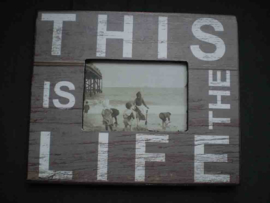 Wooden photo frame GREY