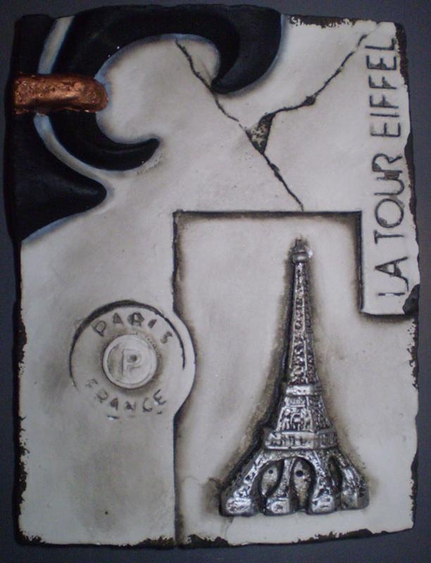La tour Eiffel (ca 16 x 20 cm)