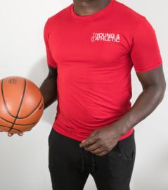 Y & A sportshirt Man (rood)