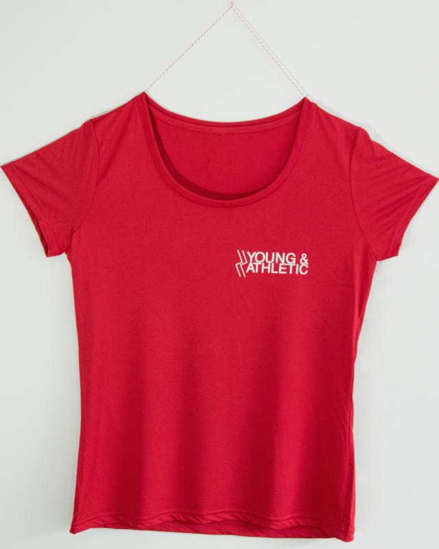 Y & A sportshirt vrouw (rood)
