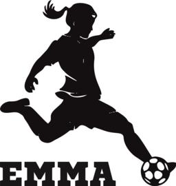 Muursticker voetbalster EMMA