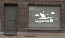 Geboortesticker Raam babynaam