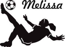 Muursticker voetbalster Melissa