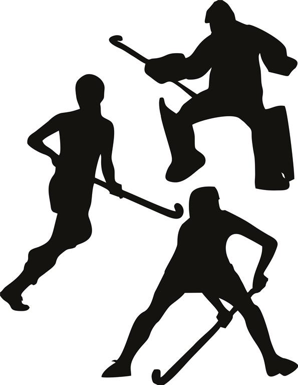 Muursticker hockey set 3