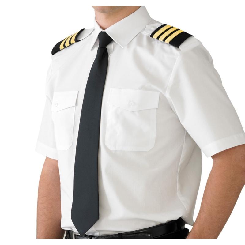 HEREN PILOOT HEMD KORTE MOUWEN MAAT (1XL)