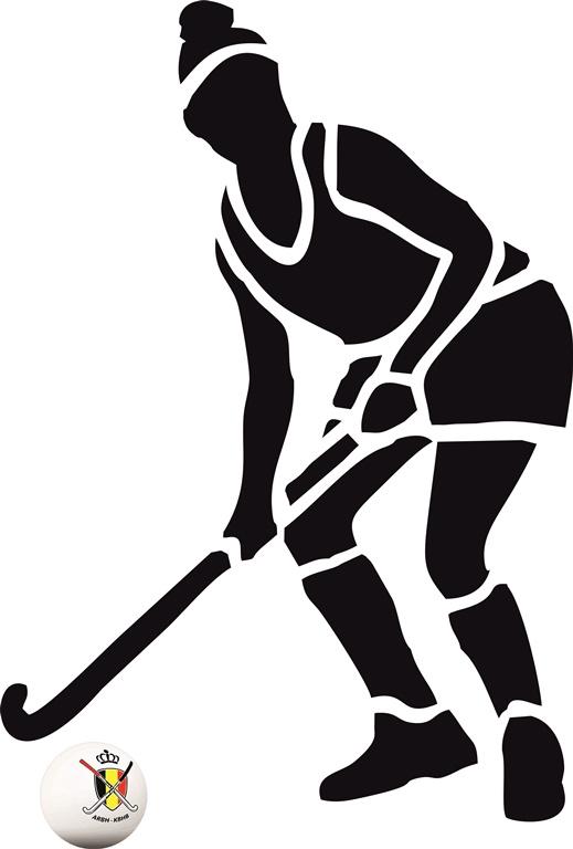 Muursticker hockey Dames 1