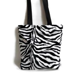 Totebag met zebraprint