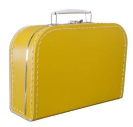 Kinderkoffertje okergeel 25cm