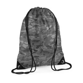 Gymtas camouflage zwart/wit