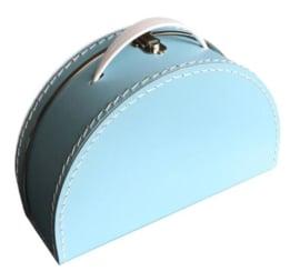 Kinderkoffertje lichtblauw halfrond
