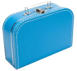 Kinderkoffertje aquablauw 25cm