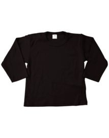 Shirt, lange mouw, zwart
