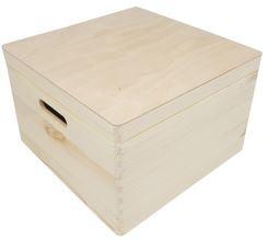 Kist met klepdeksel vierkant groot