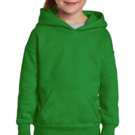 Hoodie kind, Irish green/groen