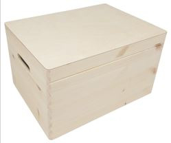 Kist met klepdeksel rechthoek groot