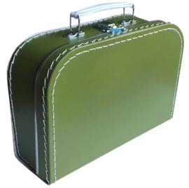 Kinderkoffertje olijfgroen 25cm