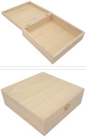 Kist vierkant met klepdeksel