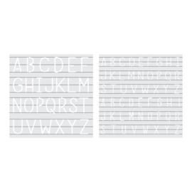 Foil quill stencils monogram
