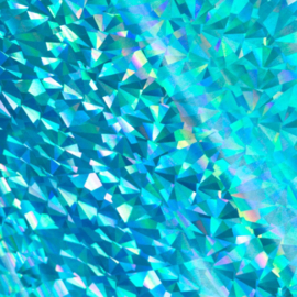 Folie blauw Iridescent Triangular Pattern