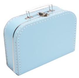 Kinderkoffertje lichtblauw 25cm
