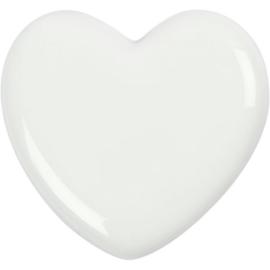 Glazen hart wit
