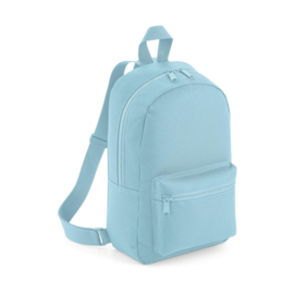 Mini essential fashion backpack lichtblauw