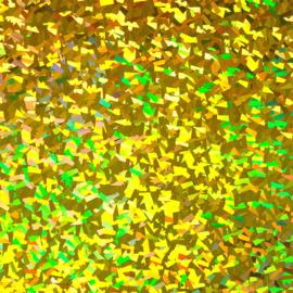 Flex holografisch kristal goud 30x50cm
