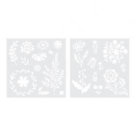 Foil quill stencils bloemen