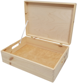 Kist met klepdeksel laag model