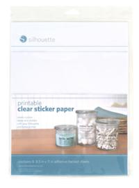 Printbare transparante stickervellen
