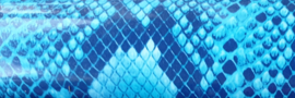 Flex slangenprint blauw 30x49cm