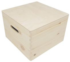 Kist met klepdeksel vierkant klein