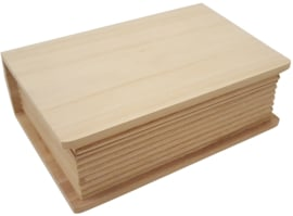 Kistje boekvorm hout klein