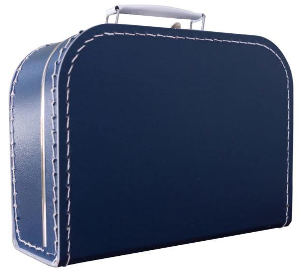 Kinderkoffertje donkerblauw 25cm