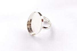 Verstelbare ring ovaal 25mm x 18mm