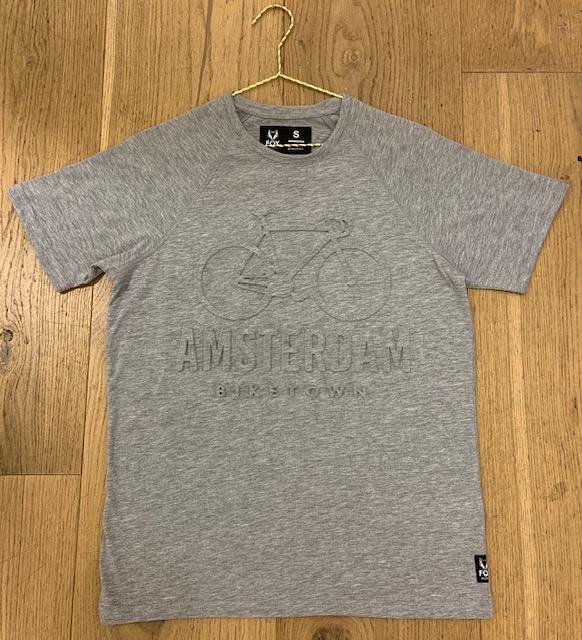 T-shirt - Bike town grey