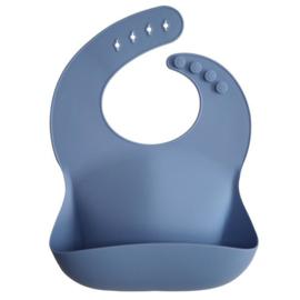 Siliconen slabbetje | Poeder blauw