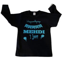 Verjaardag t-shirt met naam + leeftijd | Hieperdepiep Hoera