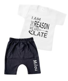 ZOMER SET | T-shirt + korte broek - Reason we are late