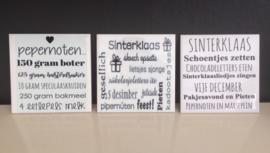 Tegeltje sinterklaas/ Friese tekst