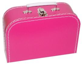 Kinderkoffertje (met naam) - Fuchsia