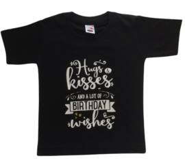 Verjaardag t-shirt zwart |  Birthday wishes