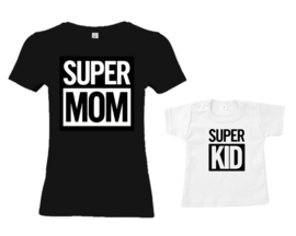 TWINNING SET |Super mom - Super kid