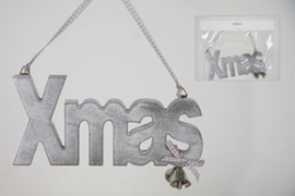 Houten kersthanger XMAS