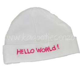 Baby Muts Hello World (fuchsia)