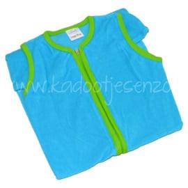 Slaapzak (met naam) 110 cm - Turquoise / Groen
