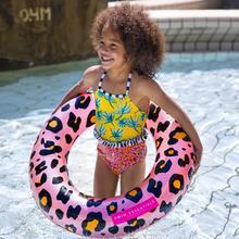 Kinder zwemband Rosé gouden Panterprint