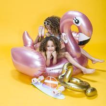 Opblaasbare Rosé Gouden Flamingo Groot XL
