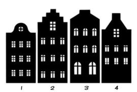 Grachtenpanden (basis set van 4 stuks)