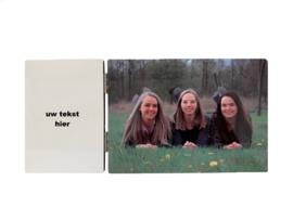 Fotoluik met foto en tekst naar wens